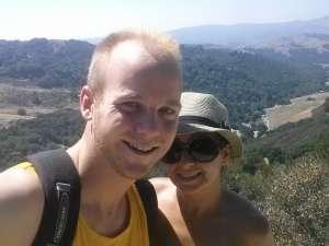 Rob and Taiss Hiking