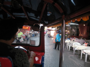 inside view of tuk tuk