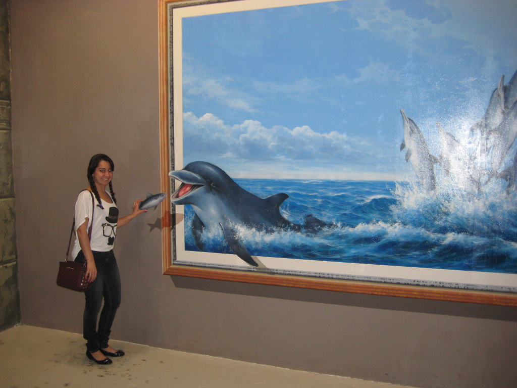 Art In Paradise - Chiang Mai, Thailand. Feeding the dolphins.