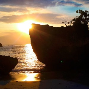 Sunset at Padang Padang Beach, Bali