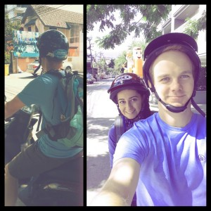 Motorbike riding - Together in Thailand