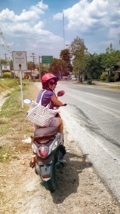 motorbike riding in Pai, Thailand
