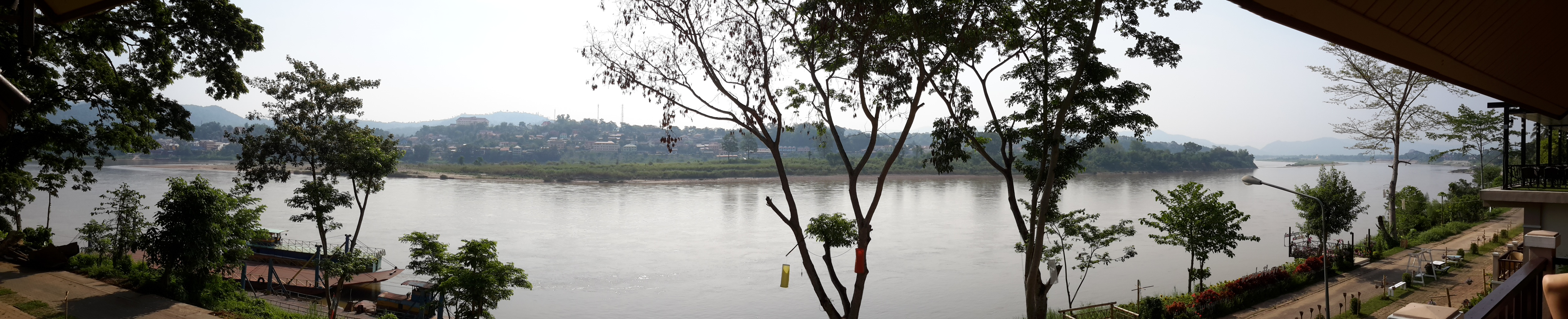 Panoramic of Mekong River from Chiang Khong Side