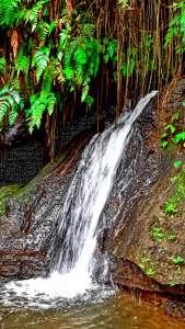 waterfall at goa gajah ubud, bali