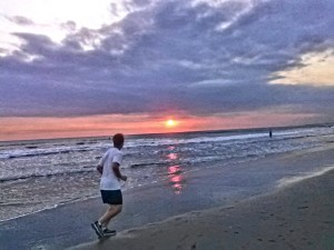 running on Seminyak Beach