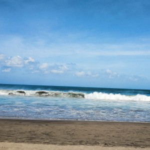 Seminyak Beach waves