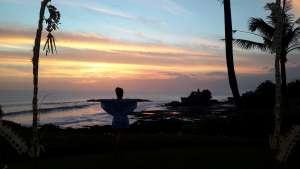 Pura Uluwatu, Bali, Indonesia at sunset