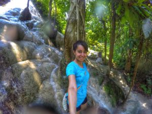 climbing up Bua Thong Waterfall Chiang Mai