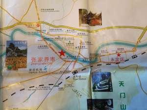 map of Zhangjiajie City