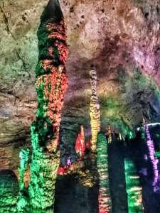 limestone formations inside Huanglong (Yellow Dragon) Cave - Zhangjiajie, Hunan, China