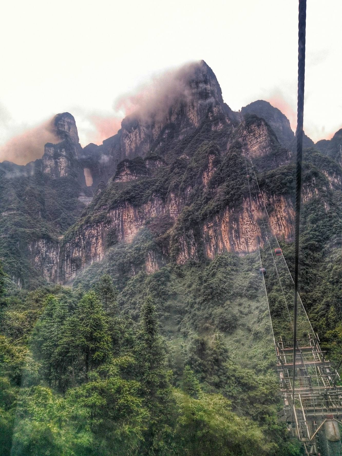 Cable Car at Tianmen Shan, Zhangjiajie, Hunan, China