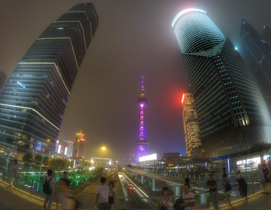Oriental Pearl Tower and Skyline Shangha, China