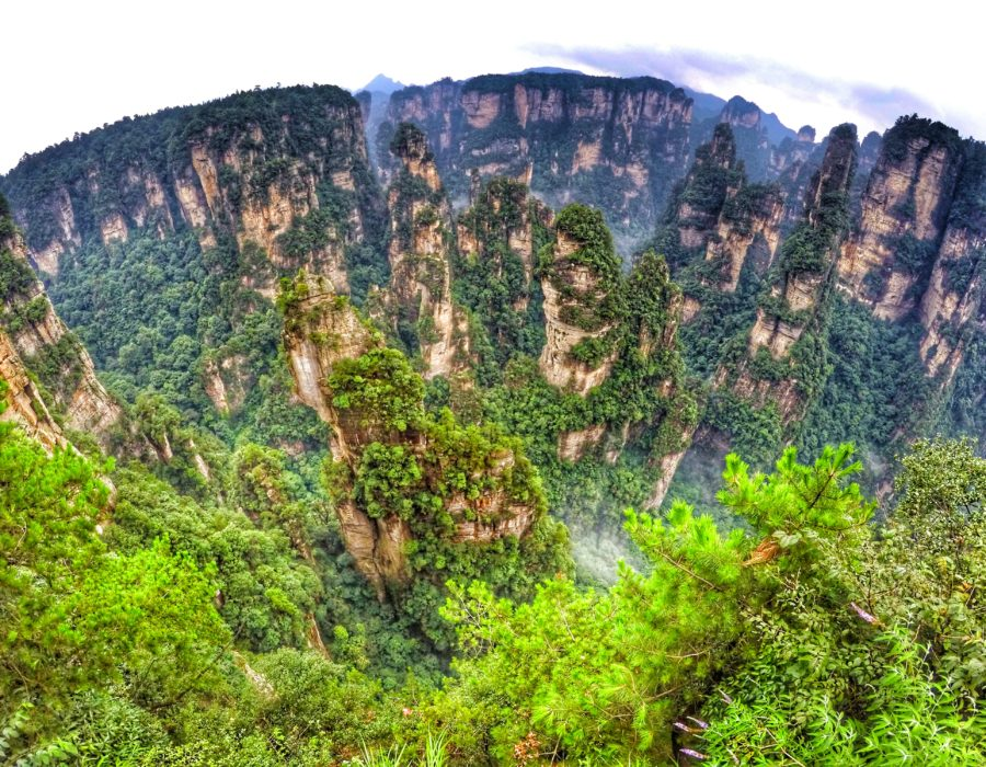 Quartz-Limestone Karst Pillars - Zhangjiejie National Forest, China