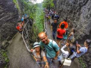 cliff-hanging pathways at Tianmen Mountain, Zhangjiajie, China