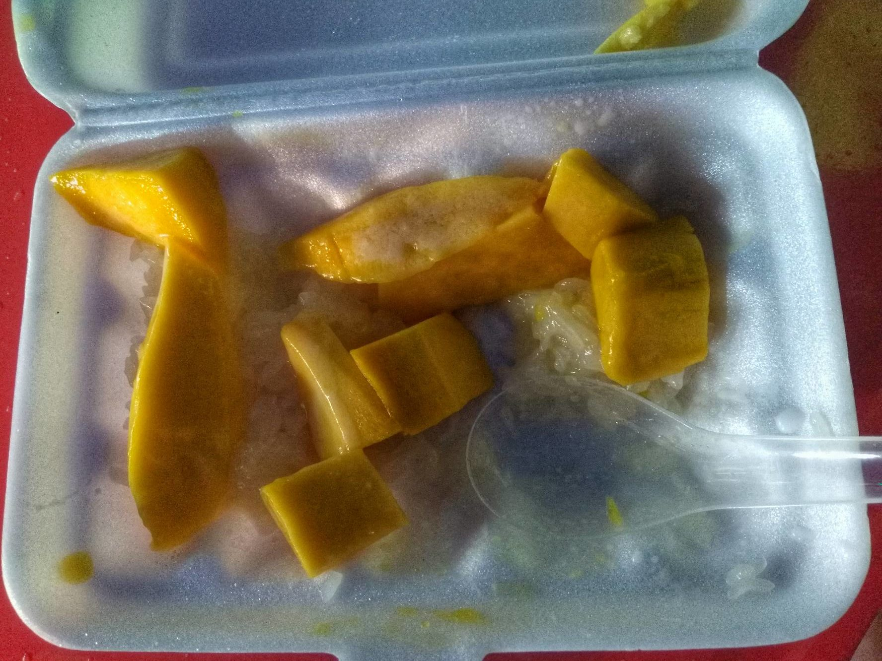 sticky rice mango - street food, Chiang Mai, Thailand