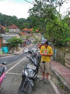 Motorbike in Ubud, Bali