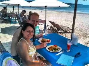Seafood dinner on the beach in Jimbaran, Bali - Chiang Mai versus Bali