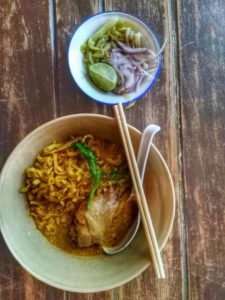 Thai Street Food to eat in Chiang Mai- Khoa Soy
