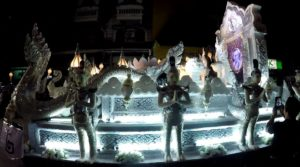 parade float at Loy Krathong/Yee Peng in Chiang Mai, Thailand