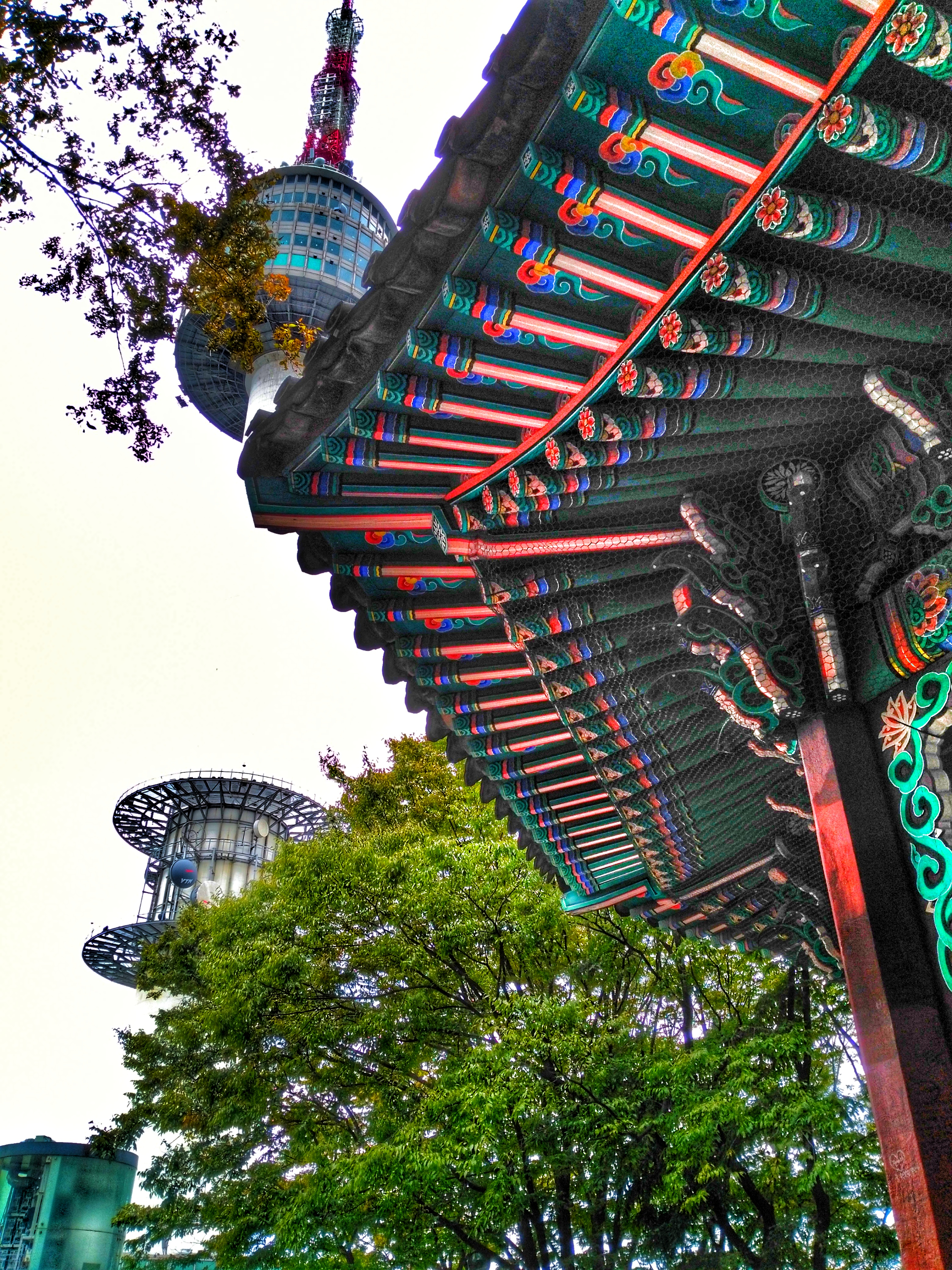 Namsan Seoul Tower - View from below