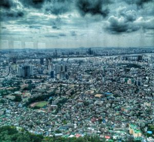 panoramic view from Namsan Seoul Tower - things to do in Seoul