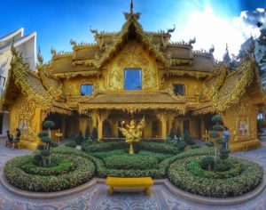 Golden Toilet - The Most Beautiful Toilet at Wat Rong Khun in Chiang Rai, Thailand