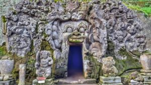 entrance to Goa Gajah Temple - Elephant Cave - photos of Bali, Indonesia
