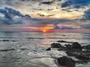 sunset on private beach of LaLaanta Resort in Koh Lanta, Thailand