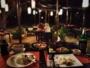 Romantic dinner at Castaway Restaurant at LaLaanta Hideaway Resort - Koh Lanta, Thailand