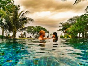 swim time at LaLaanta Hideaway resort- romantic couples getaway in Thailand