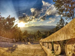 Sunset Viewpoint at Wat Phra That Mae Yen - Pai Thailand FREE Things to Do