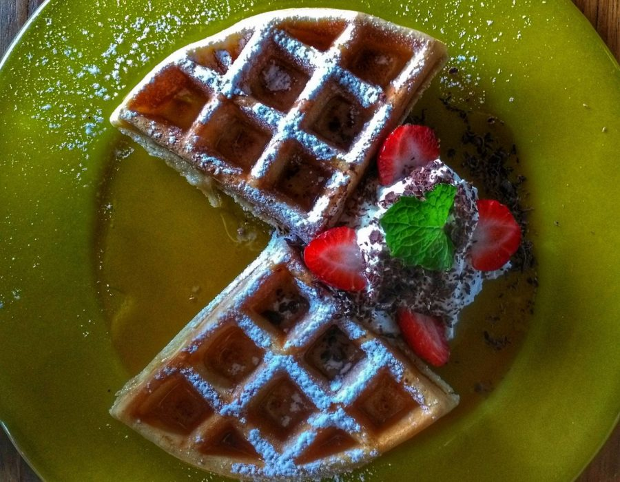 waffle breakfast at Reverie Siam Resort - Places to Stay in Pai