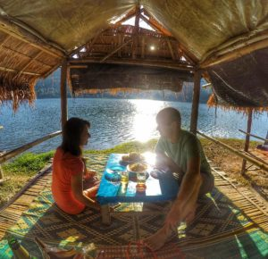 restaurant bungalow-Huay Tung Tao Lake, Chiang Mai, Thailand