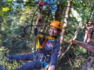 zipline experience in Chiang Mai, Thailand