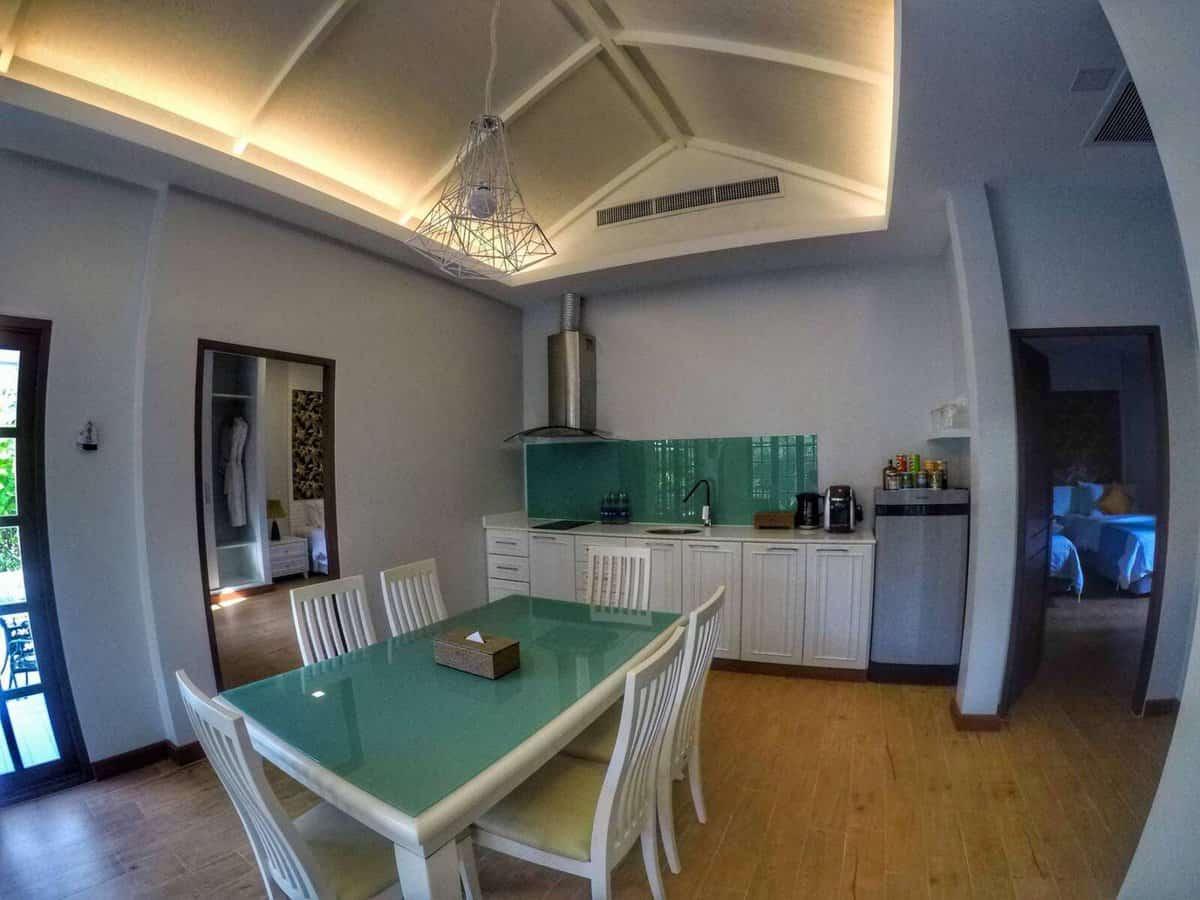 Alisea Pool Villa in Krabi, Thailand - kitchen and dining