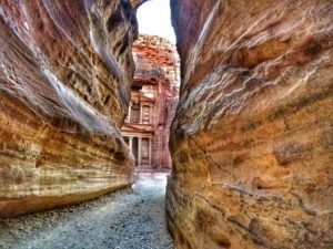 Is Petra worth visiting - The Siq view of Treasury in Jordan