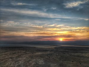 Sunrise at Masada, Israel - what to do in 7 days