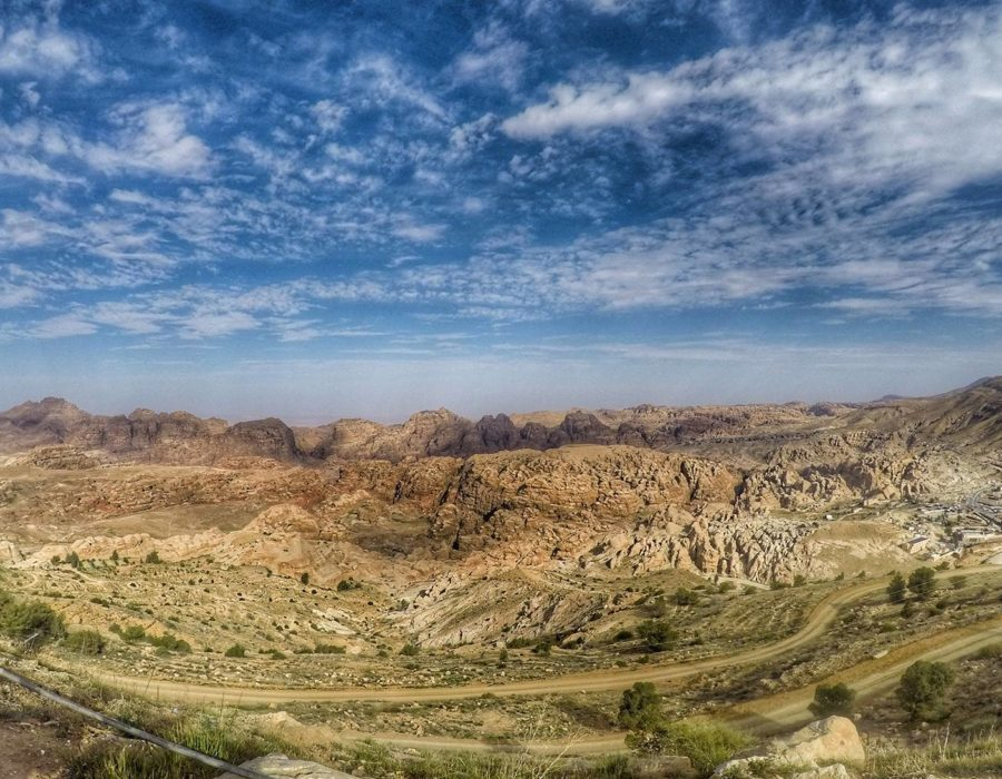Visiting Petra - View From Afar