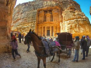 is Petra safe to visit- Treasury, Jordan