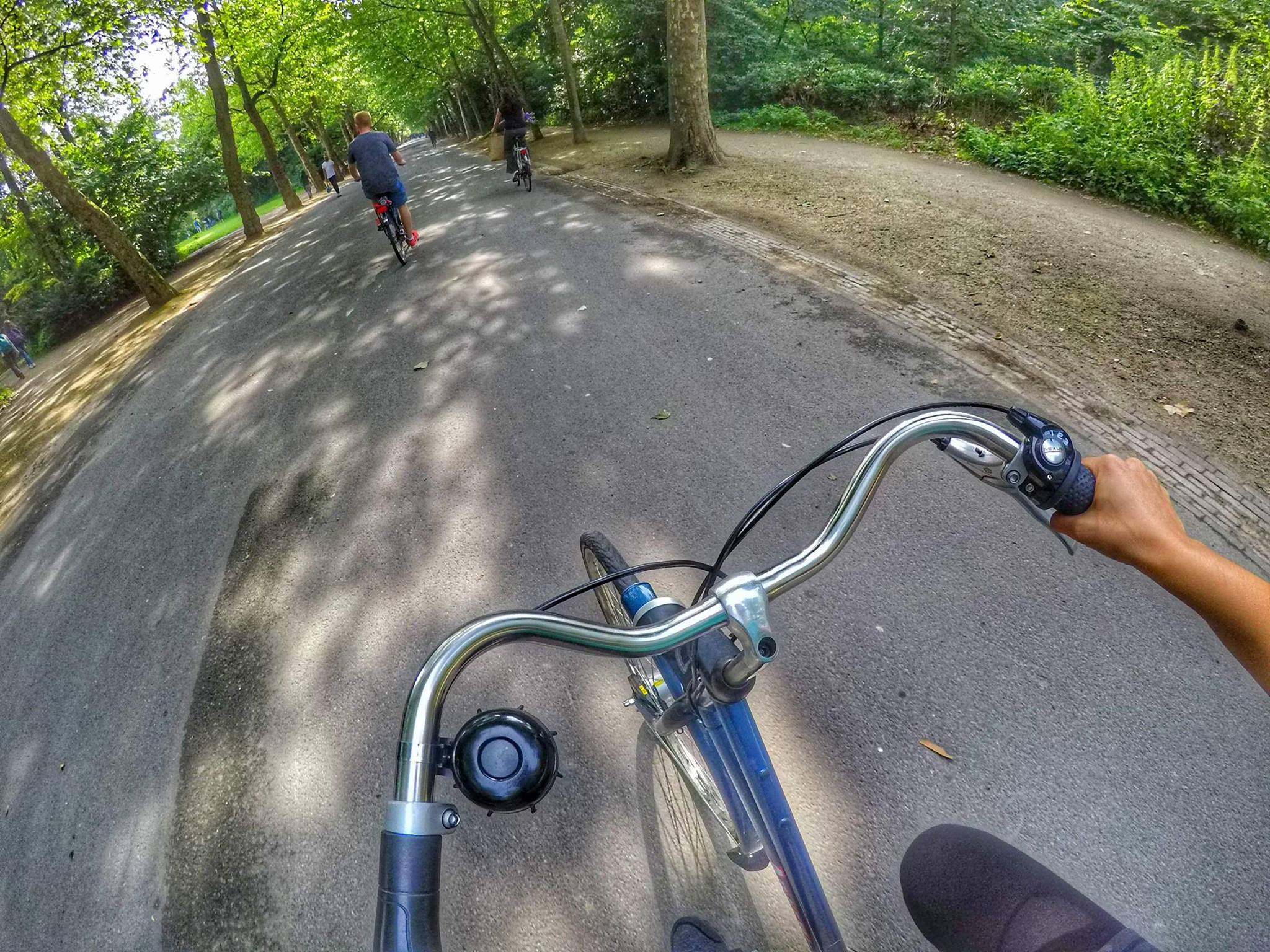 bike riding Vondelpark - things must do in Amsterdam