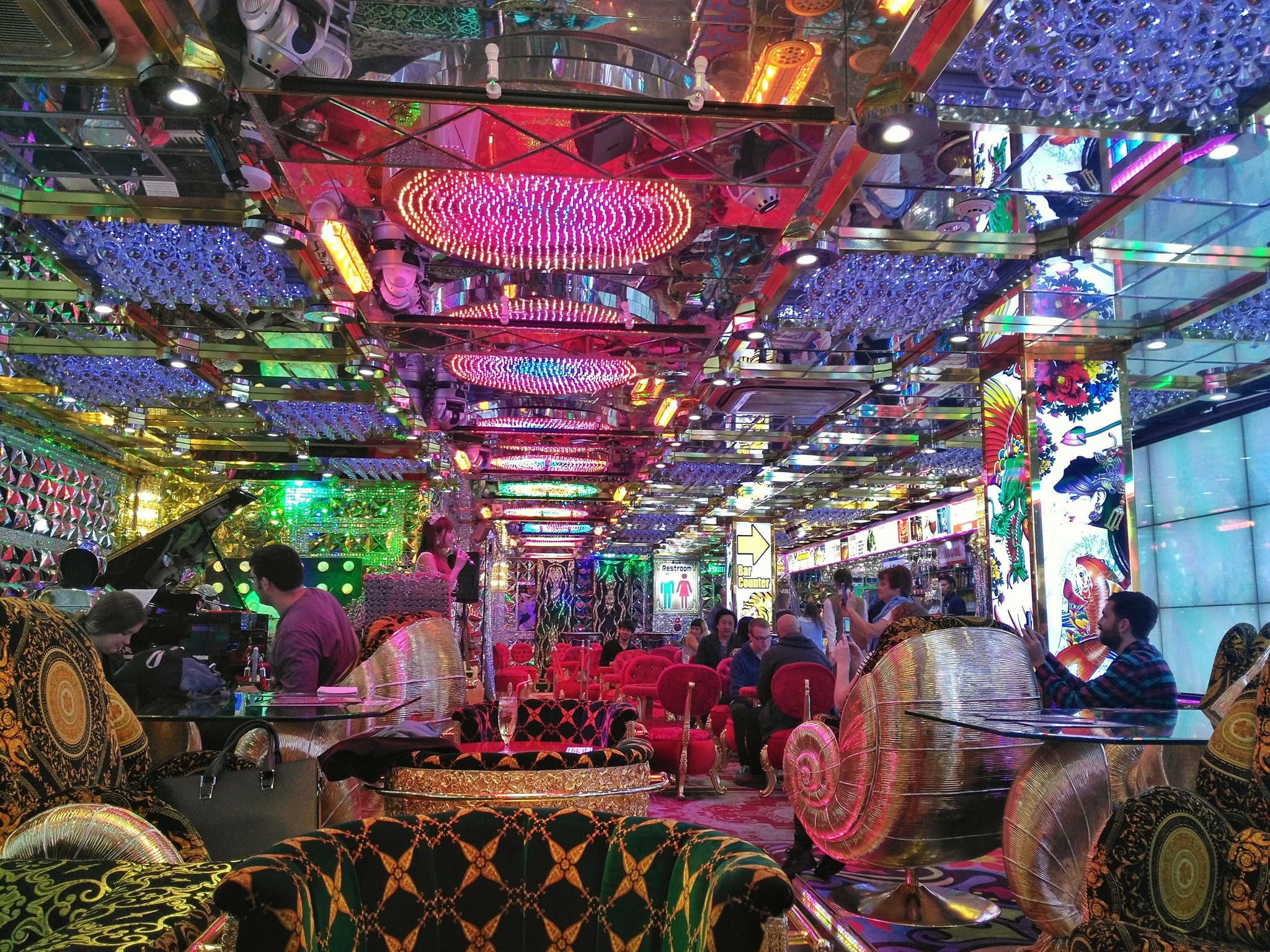 what to see in Tokyo in 2 days - Robot Restaurant lounge