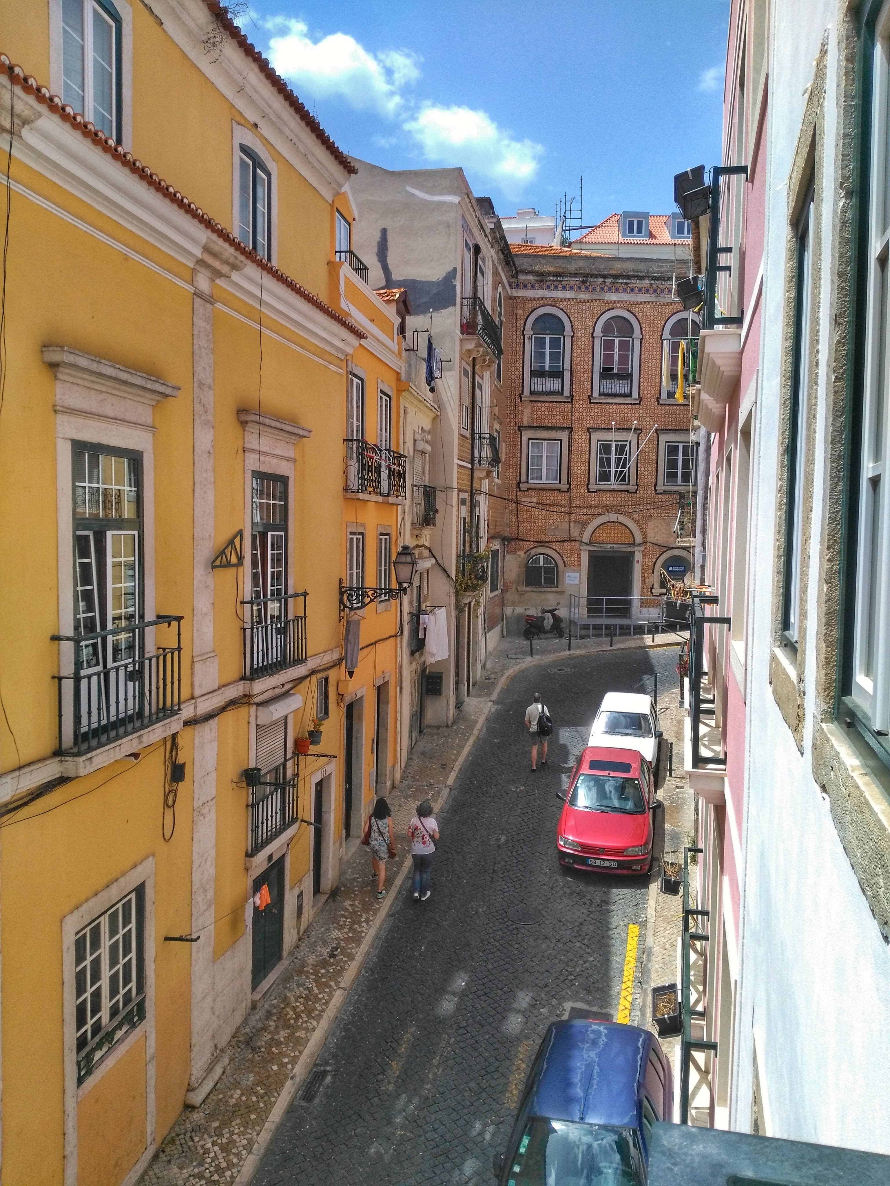 Airbnb or hotel - view from apartment in Lisbon
