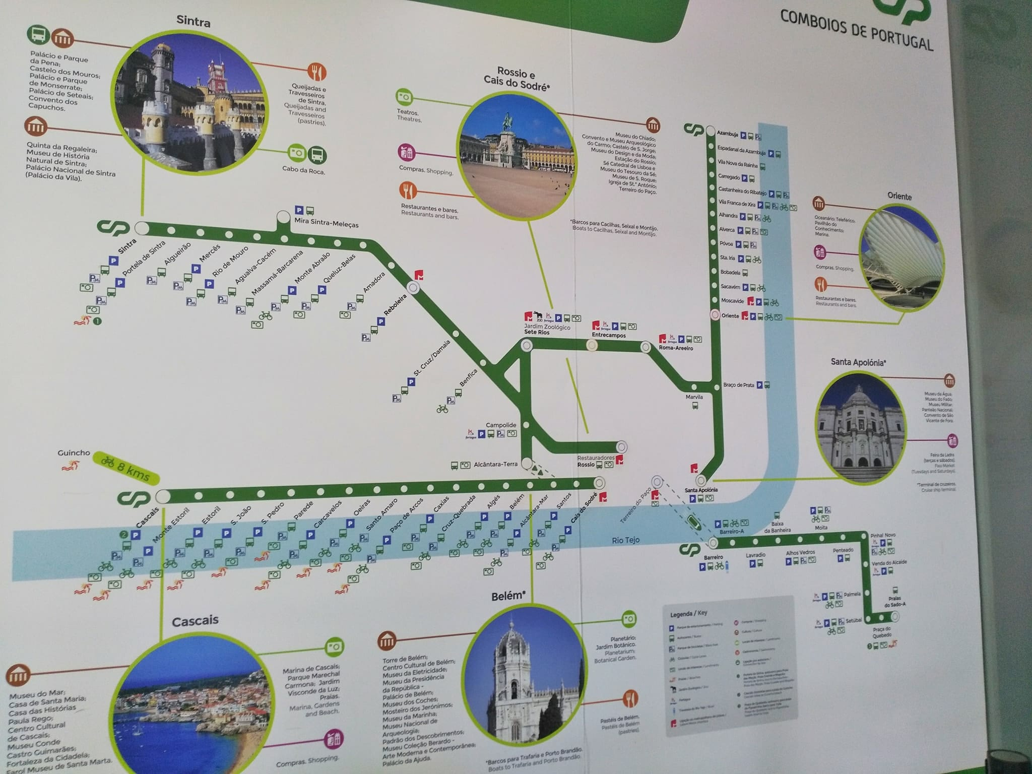 Day trip from Lisbon to Sintra - Train Map