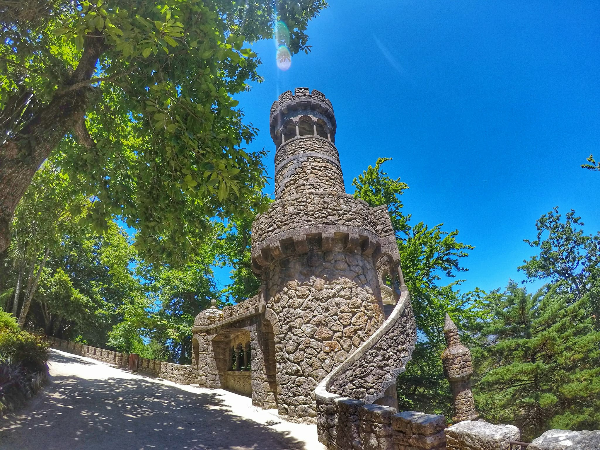 Dday trip from Lisbon - Quinta da Regaleira tower in Sintra