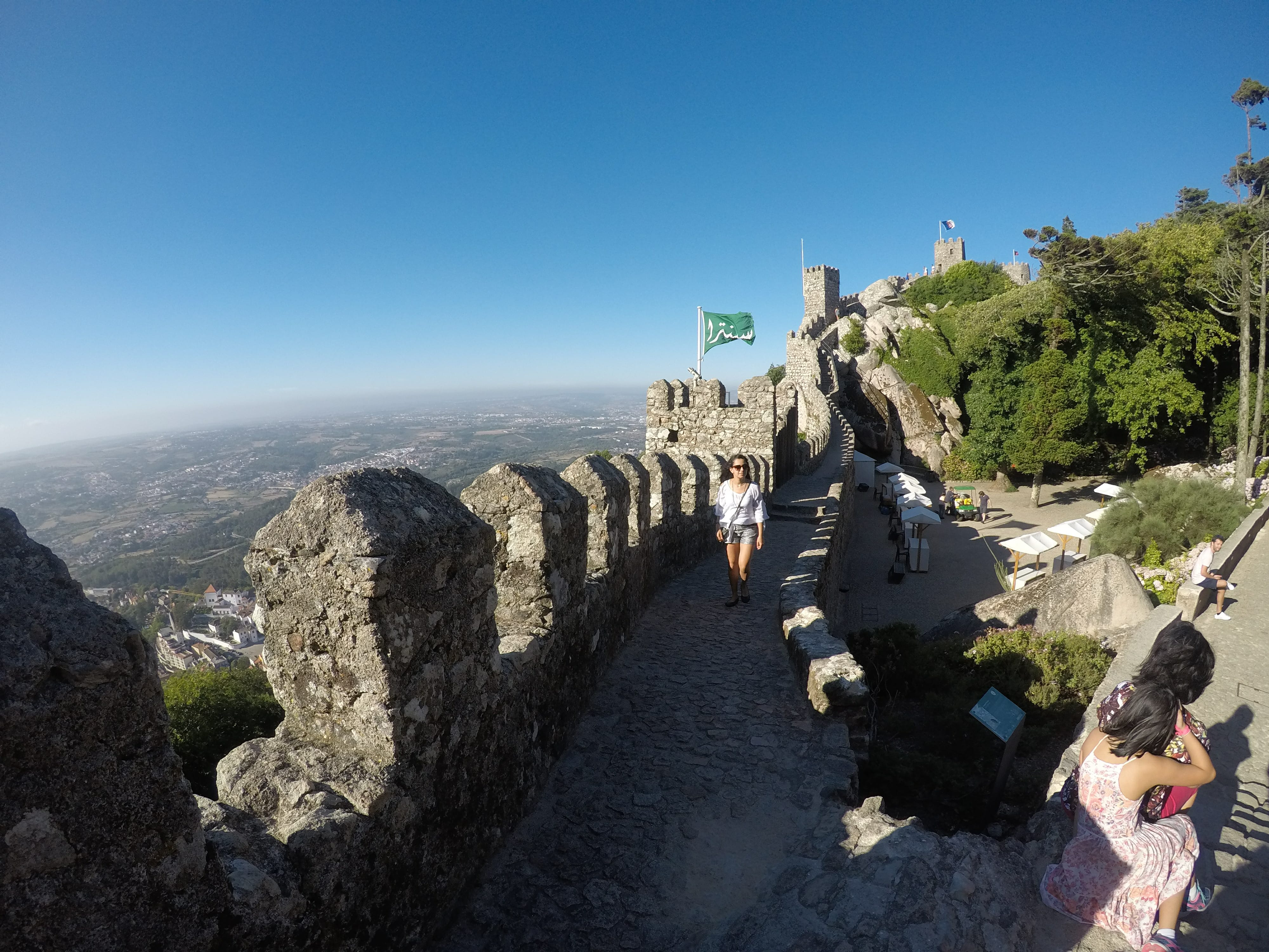 day trip from Lisbon to Sintra - Castle Of The Moors