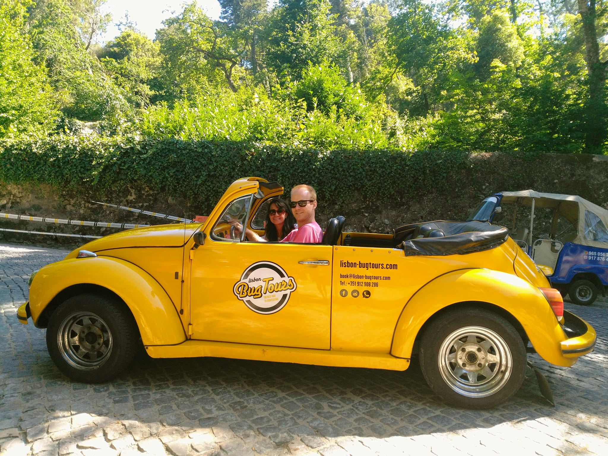 things to do in Sintra Portugal - tour in a convertible VW