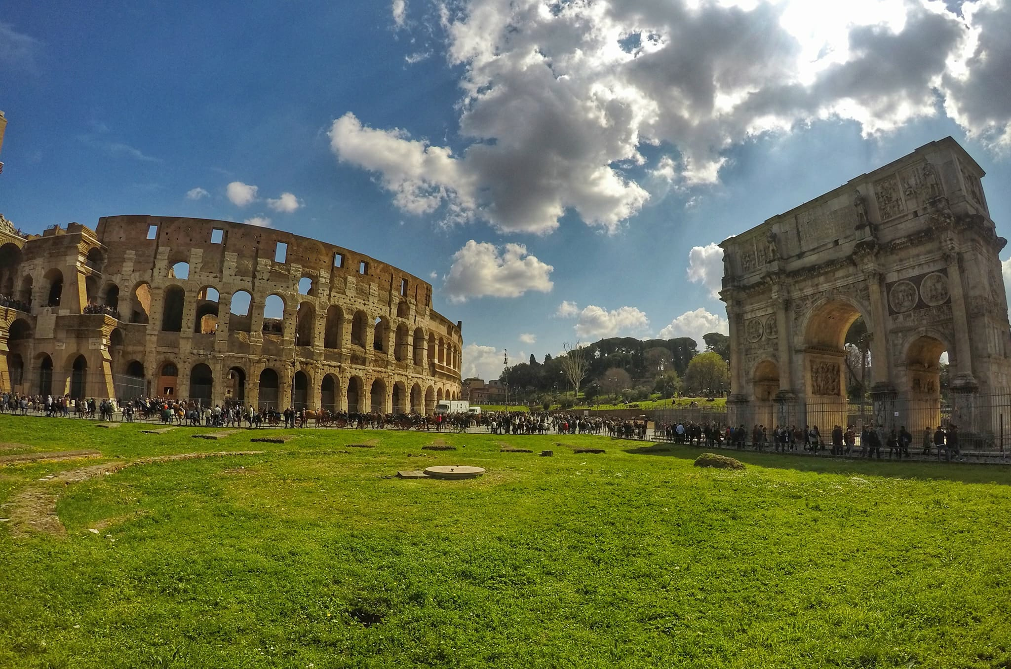 Visit Rome In 4 Days - rco Di Constantino and Colosseum