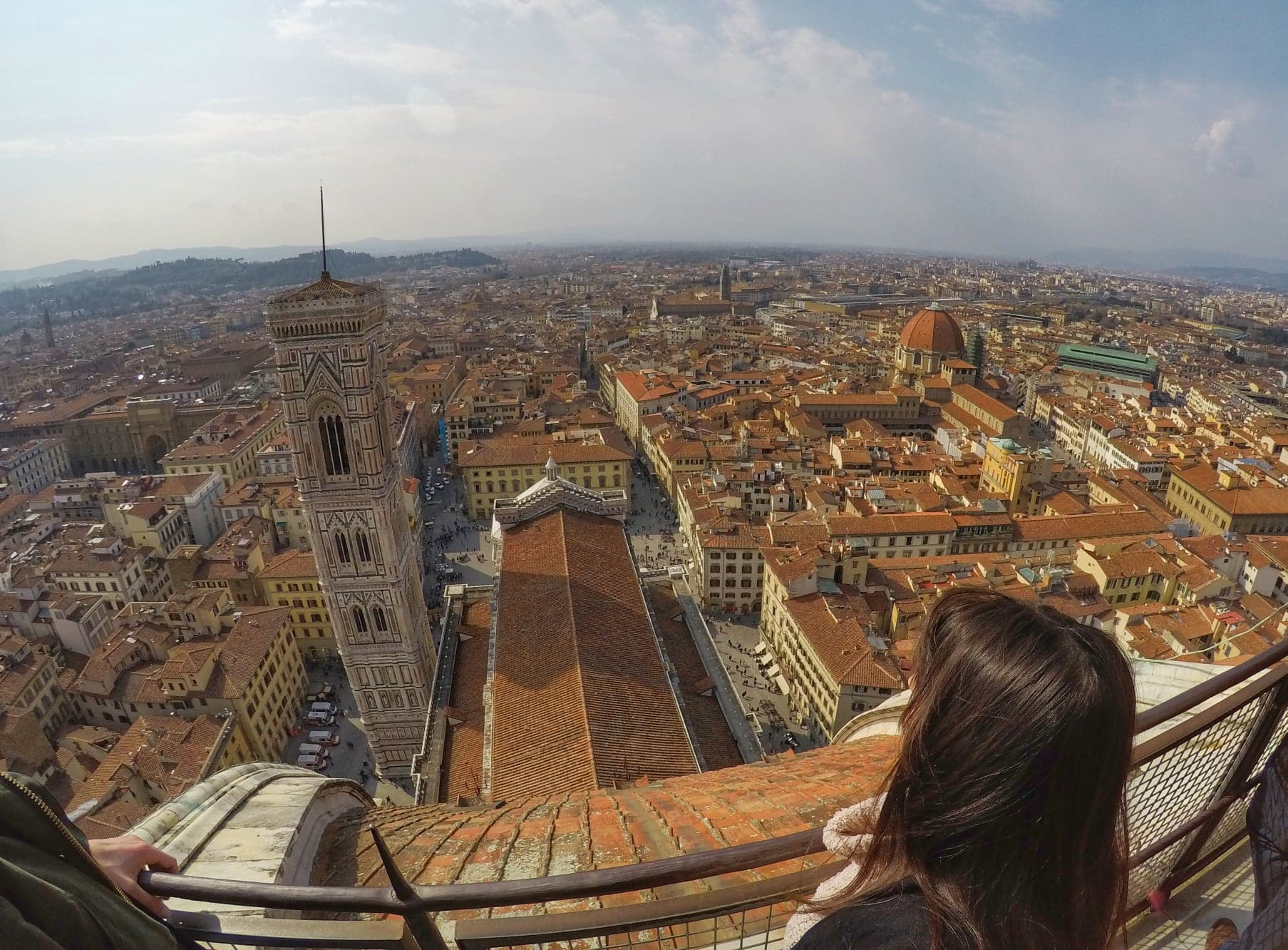 Florence itinerary 2 days - Cathedral view of city