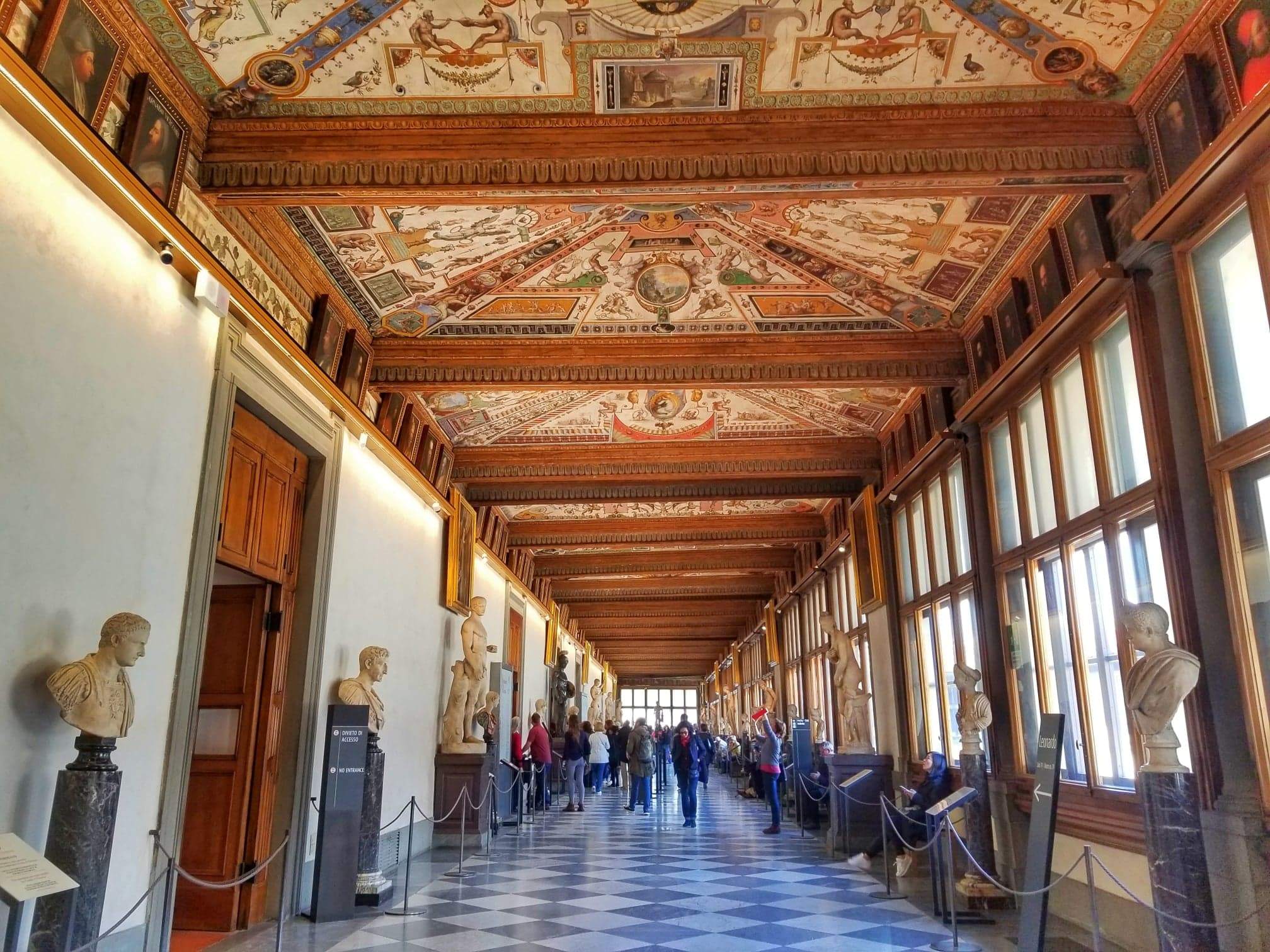 Florence itinerary 2 days - Uffizi Gallery