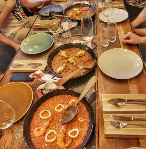 cool things to do in Barcelona - paella cooking class